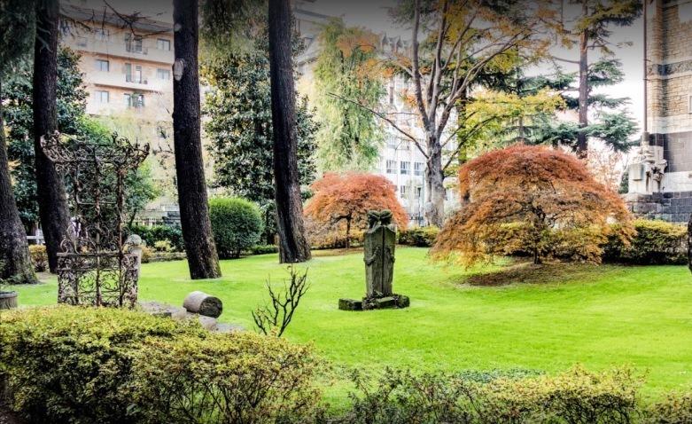 Foto del giardino del centro Milano Columbus