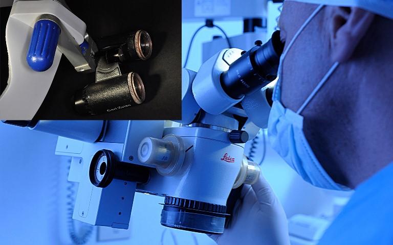 Foto del microscopio del centro Roma Prati
