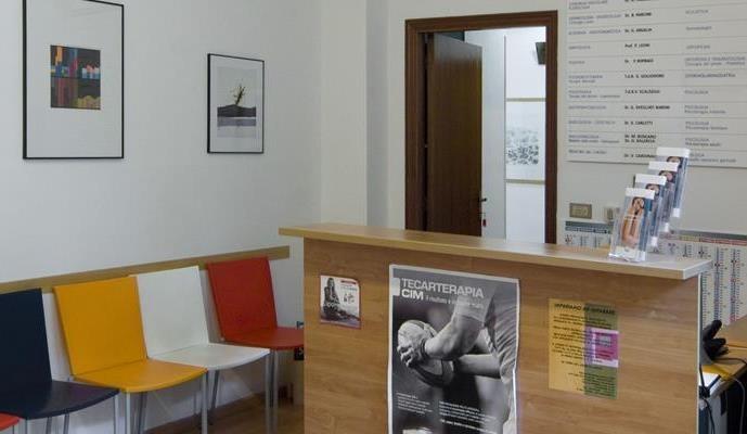Foto della sala d'attesa del centro Ancona Falconara