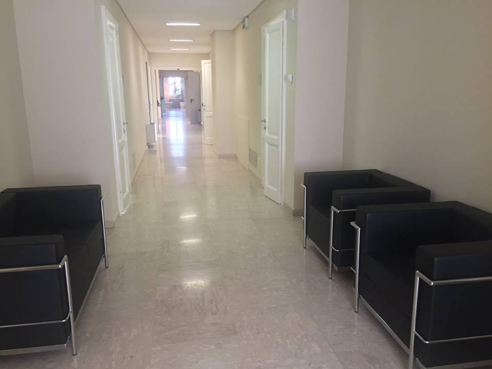 Foto della sala d'attesa del centro Padova Prato della Valle