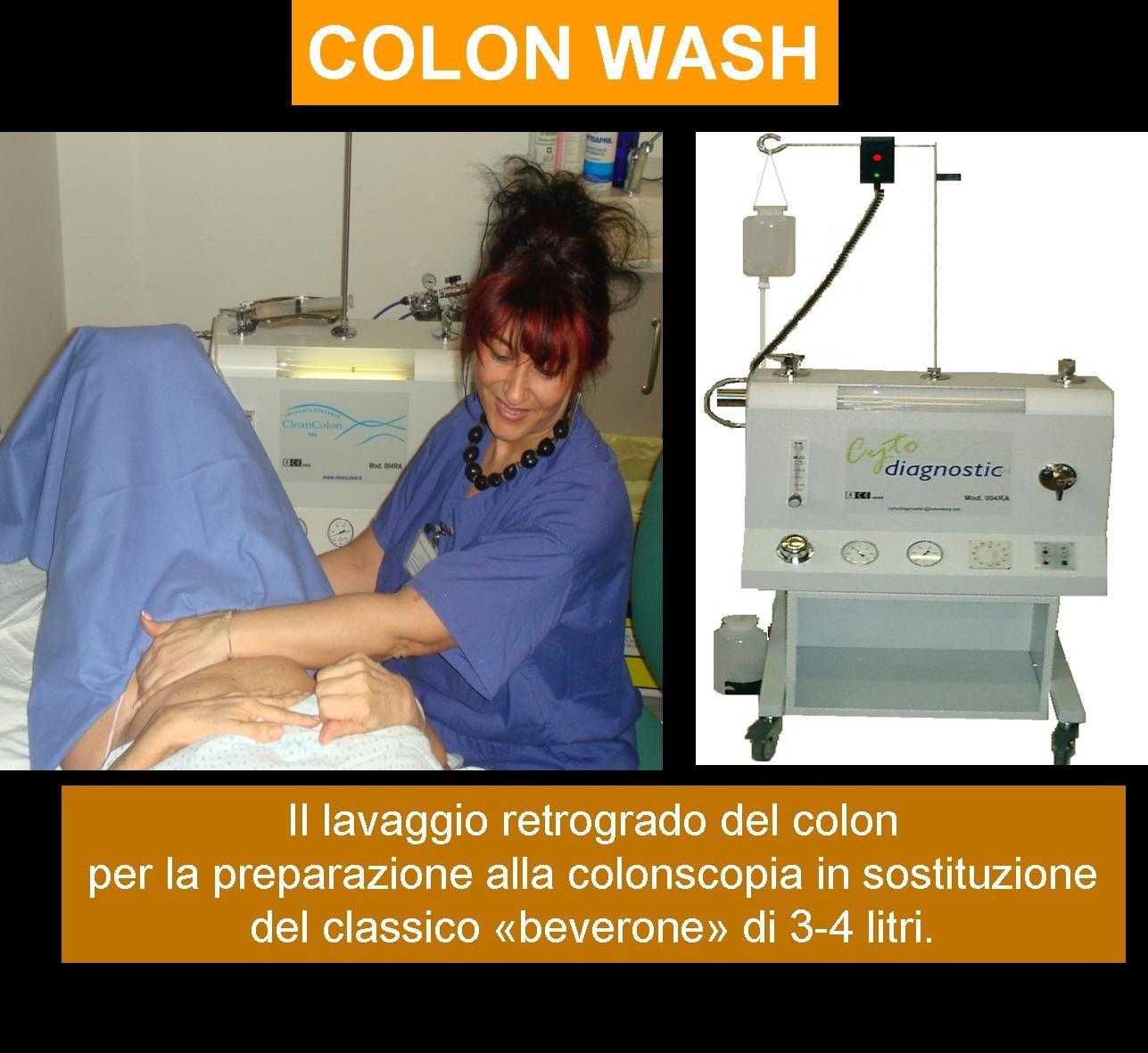 come viene eseguita la colon wash